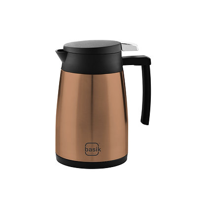 Basik Firenze 1000 Stainless Steel Insulated Flask, Copper Finish