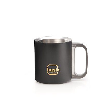 Basik Manu Stainless Steel Cups, Set of 2, 160ml