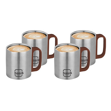 Basik Astra Double-walled Tea Cup, Set of 4