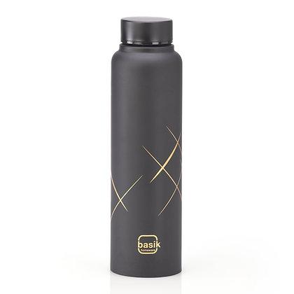Basik Antra Stainless Steel Bottle, Black Matt, 950ml