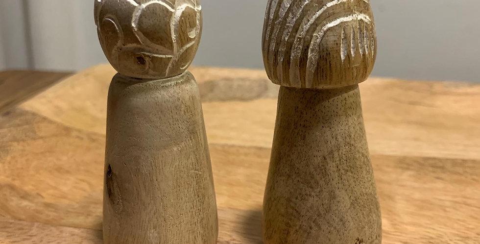 סט מלח פלפל מעץ מנגו