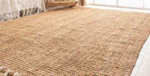 שטיח חבל פרנזים לבנים