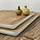 Thumbnail: מגש עץ מנגו תחתית לבנה