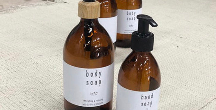 צמד בקבוקי סבון נוזלי