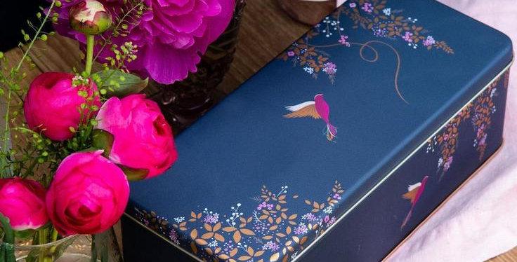 קופסת פח ציפור כחולה