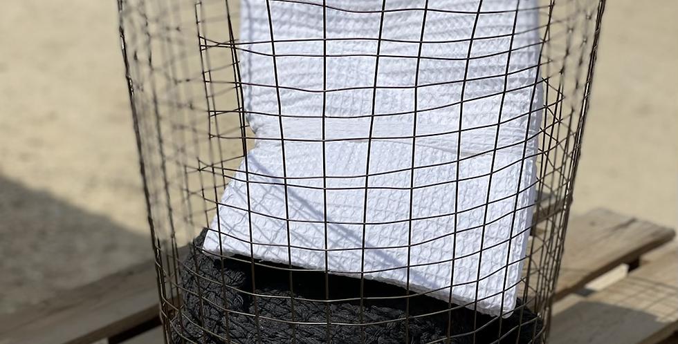 סל כביסה גדול רשת ברזל