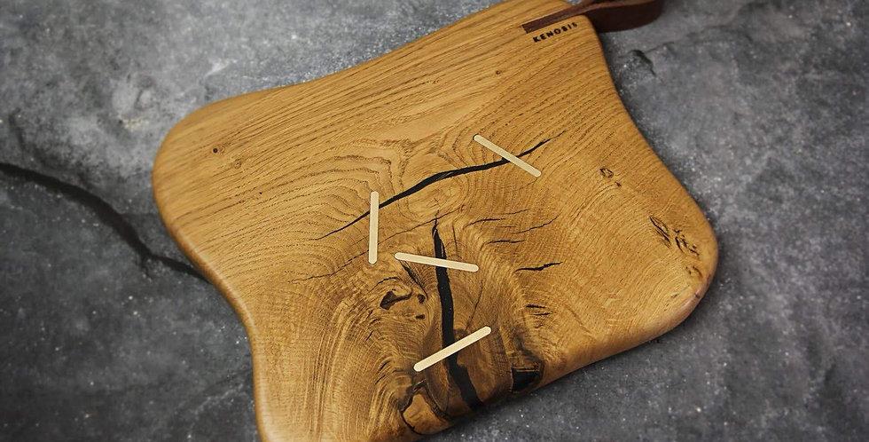 קרש הגשה - עץ אלון מבוקע