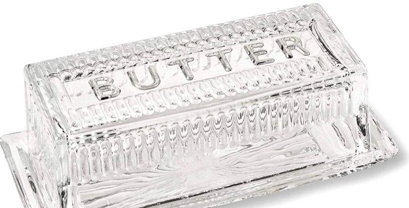 כלי זכוכית לחמאה