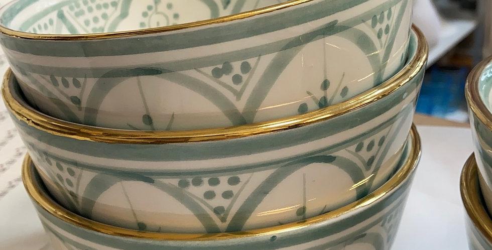 קערה מרוקאית פס זהב