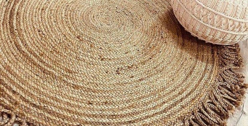 שטיח חבל עם צמות