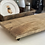 Thumbnail: מגש עץ על רגליי ברזל