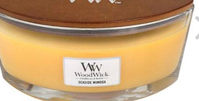 נר ריחני - Wood Wick seaside mimosa