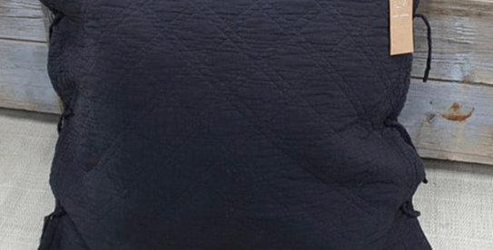 כרית קווילט שחורה