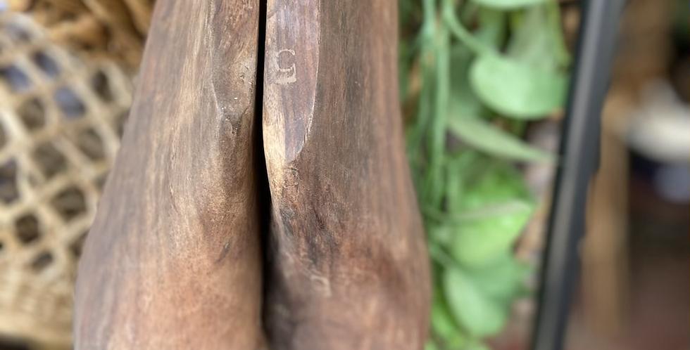 נעל עץ דקורטיבית
