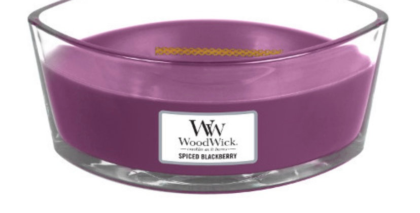 נר אליפסה  Woodwick Spiced Blackberry