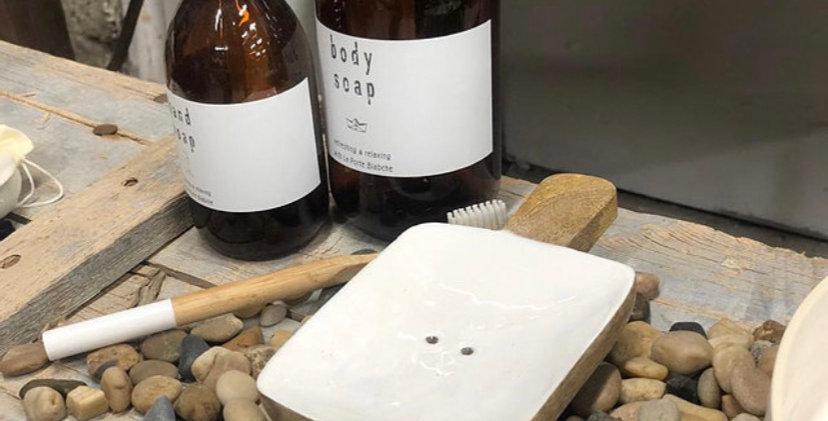 מגש עץ לסבון