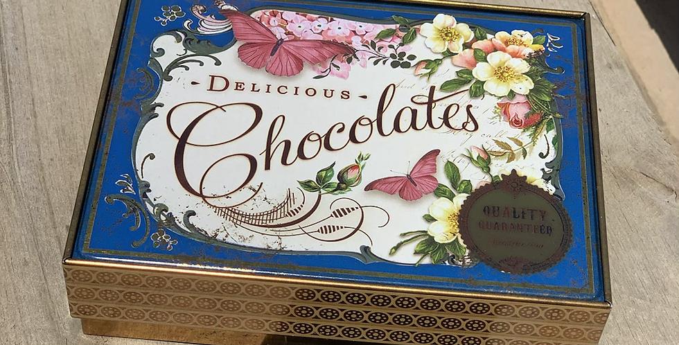 קופסת פח לשוקולדים