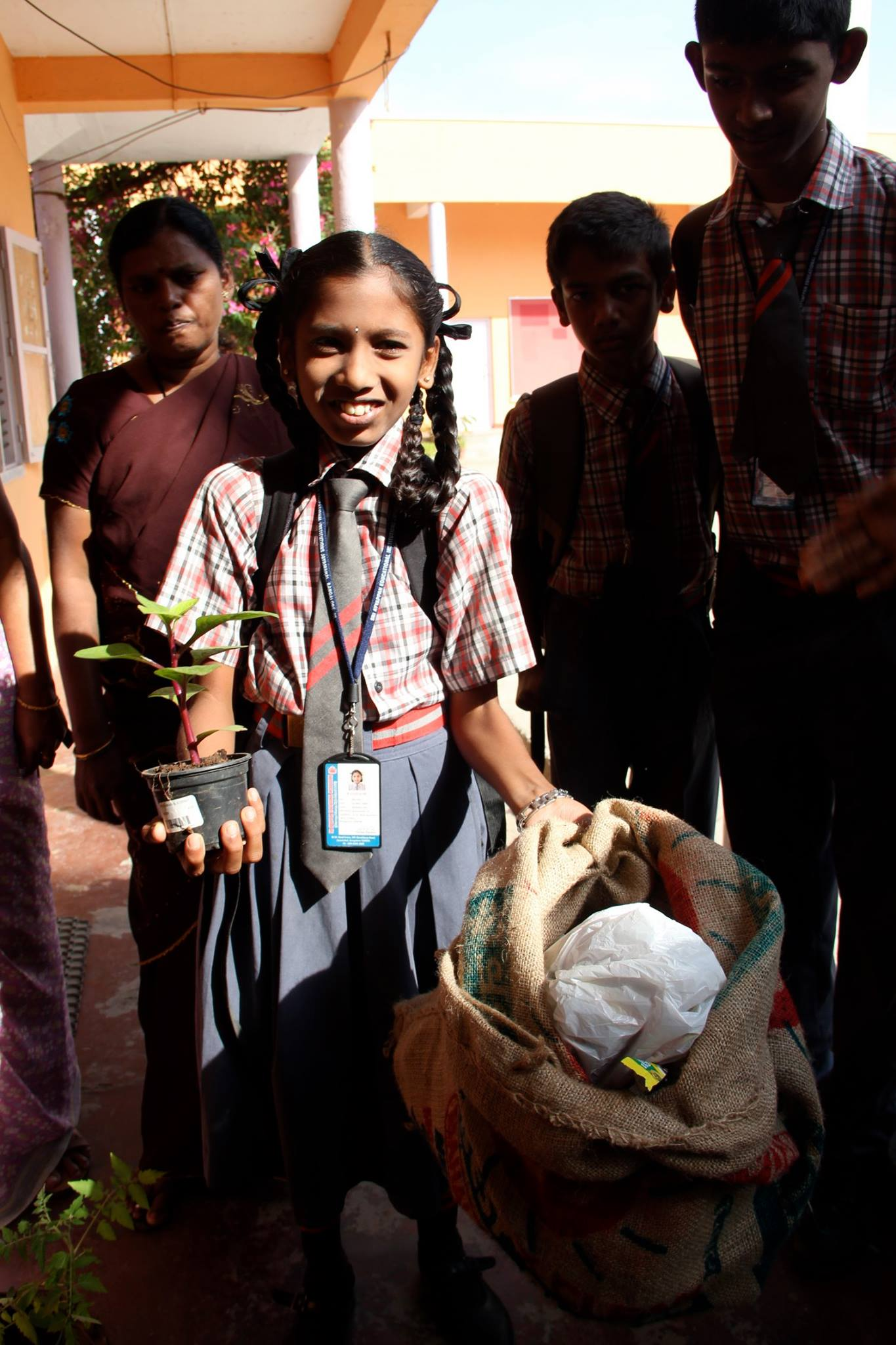 Waste/sapling Sri Ayyappan School
