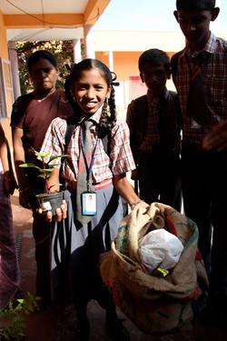 Waste/sapling Sri Ayyappan School