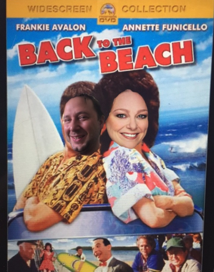 Adam and Leslie as Frankie and Annette in Back to the Beach