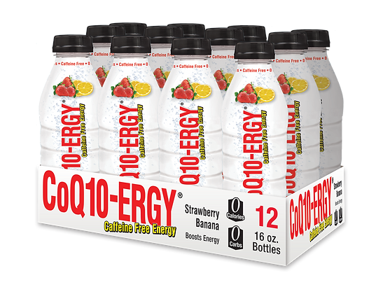 CoQ10-ERGY® STRAWBERRY LEMONADE WATER 16 OZ (12 PACK)
