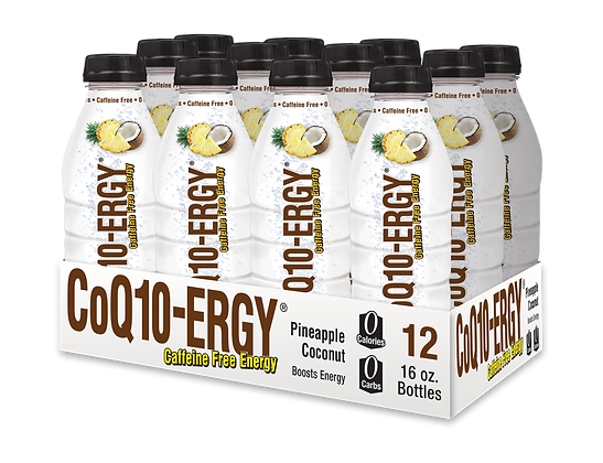 CoQ10-ERGY® PINEAPPLE COCONUT WATER 16 OZ (12 PACK)