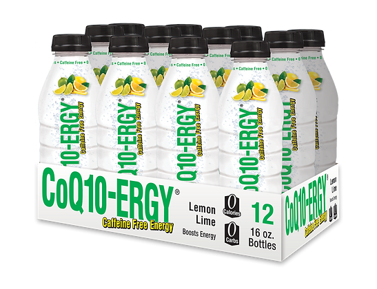 CoQ10-ERGY® LEMON/LIME WATER 16 OZ.(12 PACK)