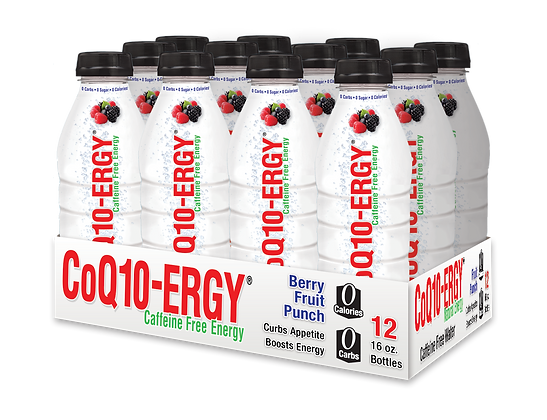 CoQ10-ERGY® BERRY FRUIT PUNCH WATER 16 Oz. (12 PACK)
