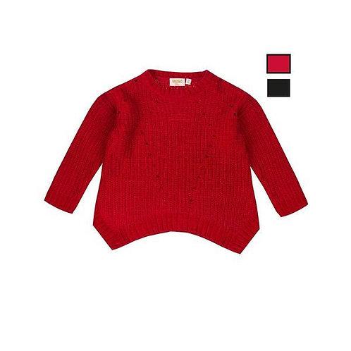 Jersey de niña chenilla color rojo