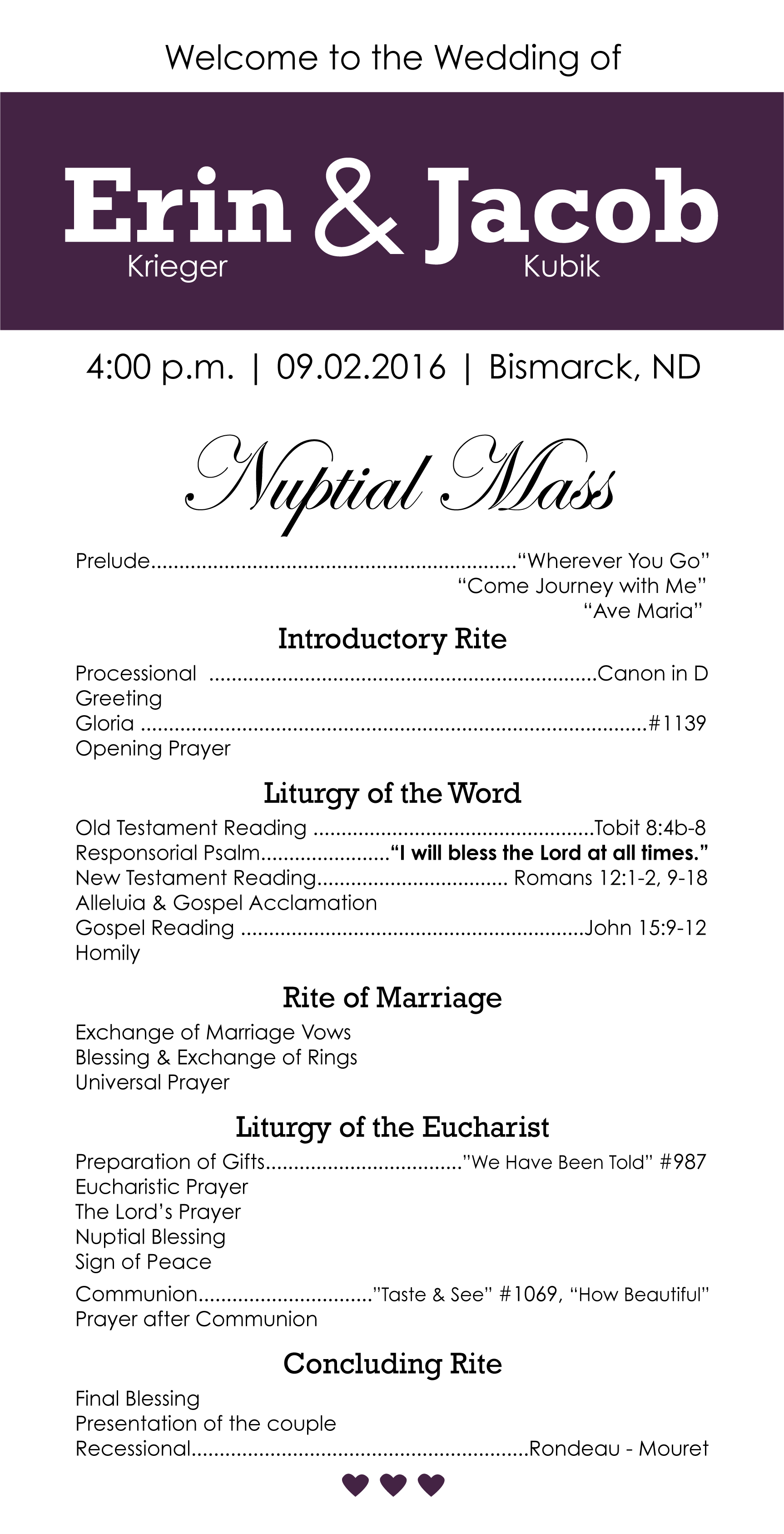 wedding-program-front