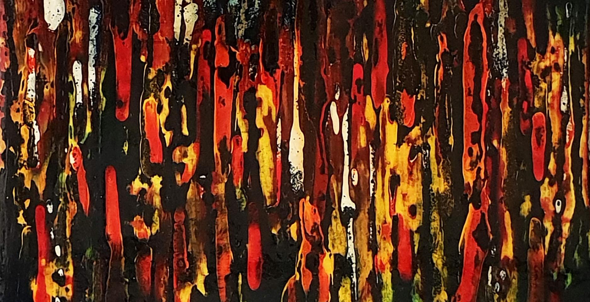 Sans titre 7 Laque sur bois (25 cm X 25 cm) 2018