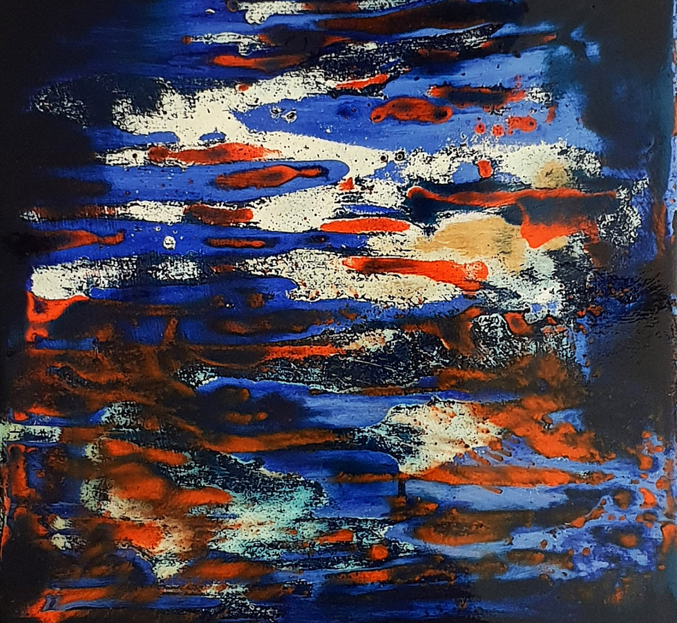 Sans titre 3 Laque sur bois (25 cm X 25 cm) 2018