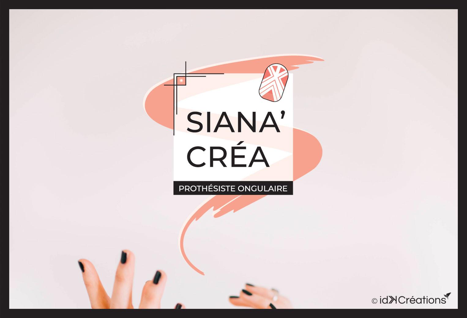 Identité visuelle et carte de visite Siana'Créa