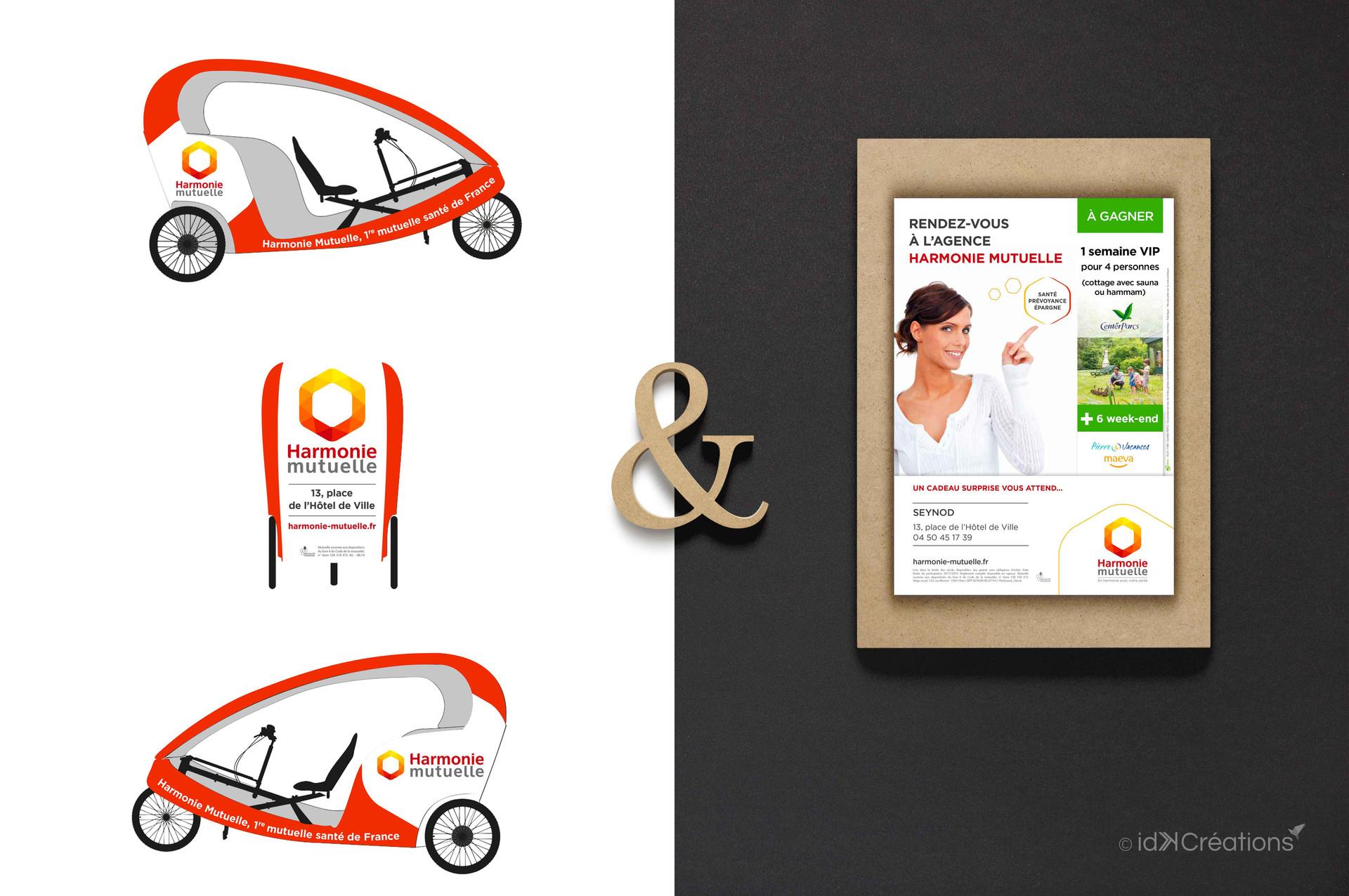 Campagne marketing Harmonie Mutuelle