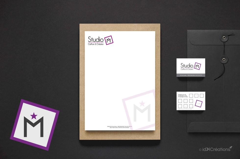 Identité visuelle et supports de communication Studio M