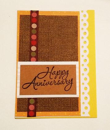 Happy anniversary card.