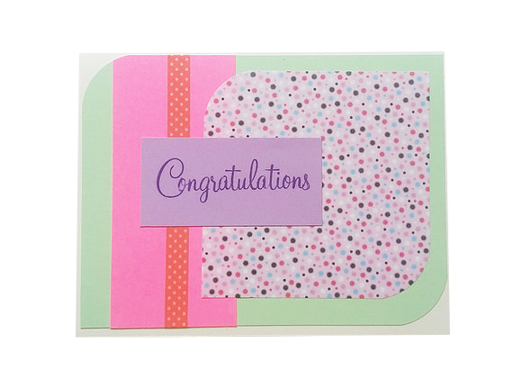Congratulations card.