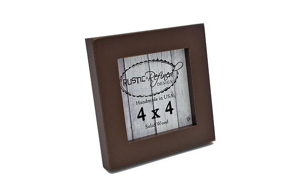 "4x4 1"" Gallery Picture Frame - Chocolate"