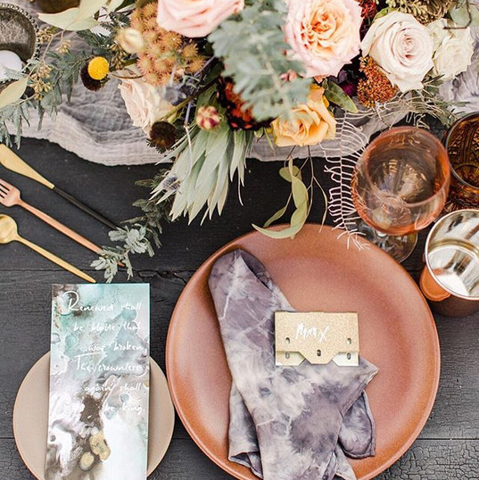 Stunning tablescapes with equal parts fe
