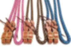 rope reins, rope tack, custom tack, custom rope reins