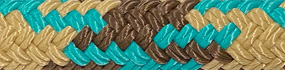 Turquoise/Brown/Tan