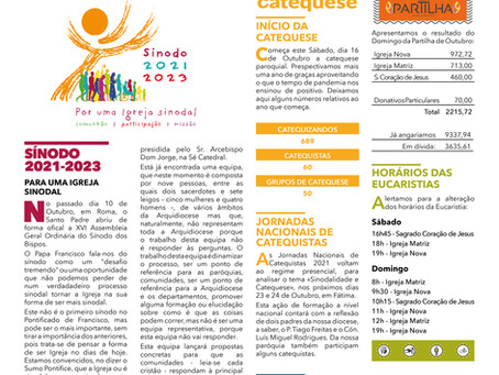 Boletim Igreja Nova 2021-10-17