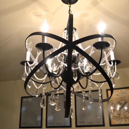 DIY RESTORATION HARDWARE INSPIRED CHANDELIER