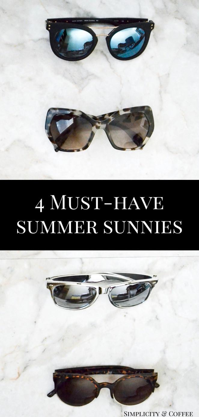 Four Must-Have Summer Sunglasses via simplicityandcoffee.com