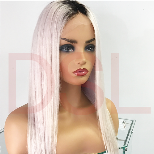 FULL LACE WIG - ICE (ASH BLONDE) 4 PHOTOS