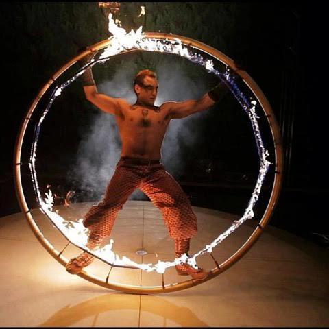 Fire Cyr Wheel