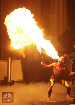 Rob Fire Breath Celebrity Circus