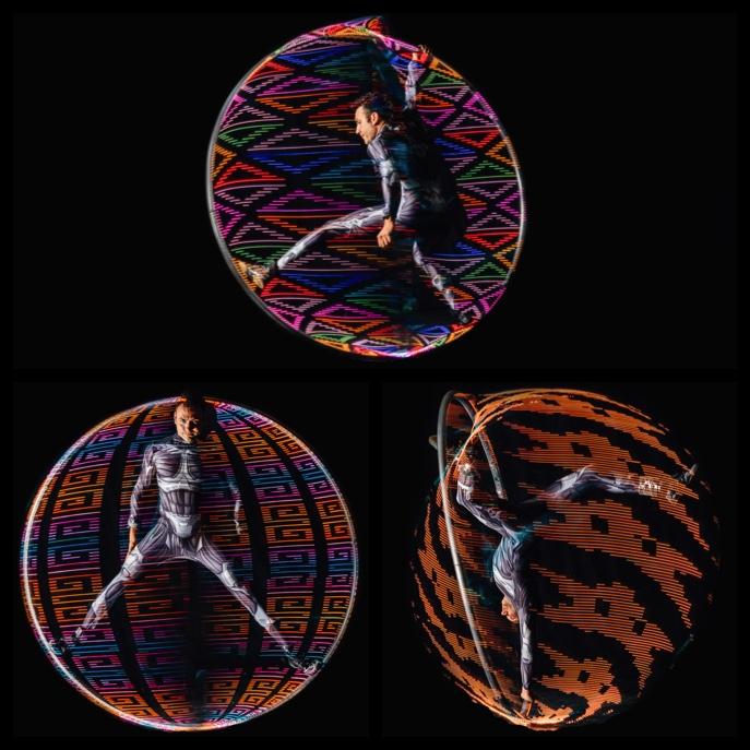 LED Cyr Wheel x 3