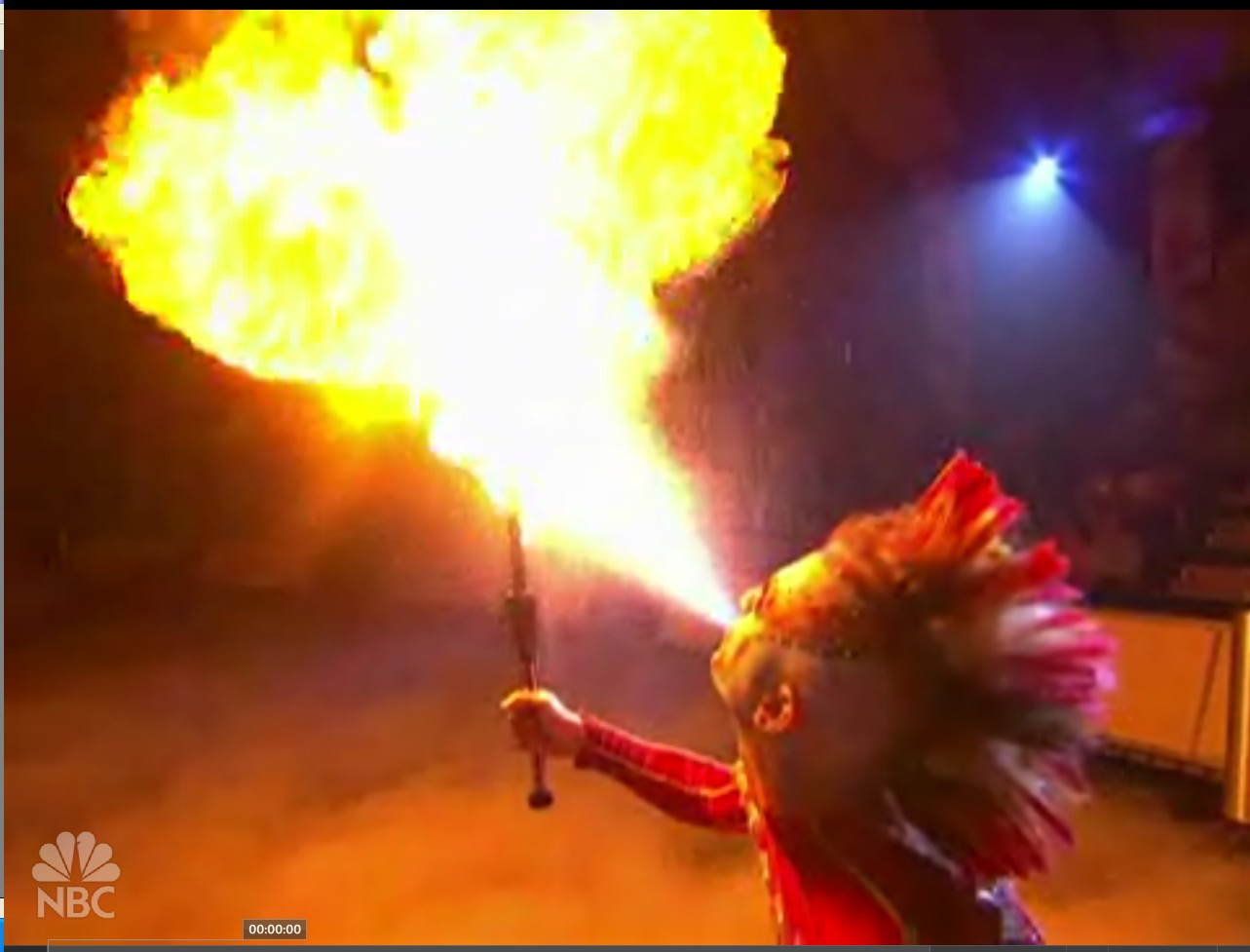 Rob Breathing Fire on NBC