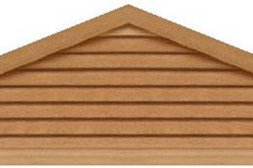 "GVP5120 - 120"" base 5/12 pitch Triangle Gable Vent"